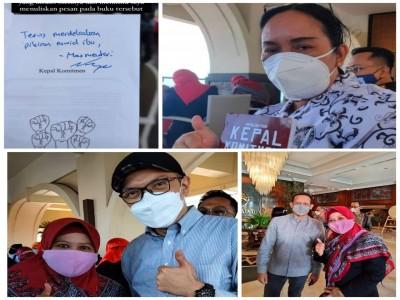 Guru Penggerak dari SMA Negeri 1 Balikpapan, Dayang Suriani, M.Pd dan Puspani, M.Pd.